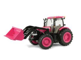 Case IH tractor met voorlader in Pink kleur ERTL46357 schaal 1:16