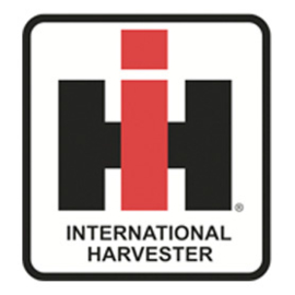 International Harverster logo op vlag +/- 35/50cm