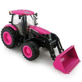 Case IH tractor with front loader in Pink color ERTL46357 scale 1:16