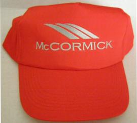 McCormick cap Rood met zilverkleur opdruk