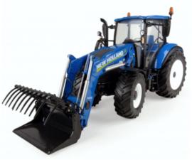 NH T5.120 tractor met voorlader. UH4958 Schaal 1:32
