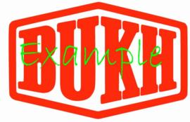 BUKH logo op vlag +/- 35/50 cm.