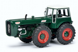 Dutra D4K tractor in Groen. PRO.Resin Schuco.  SC8964. Schaal 1:32