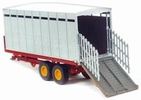 Veetransport trailer met dubbele as  Britains  Schaal 1:32