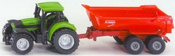 Tractor with dump truck