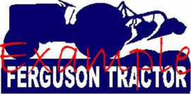 Ferguson tractor logo op vlag +/- 35X50 cm.