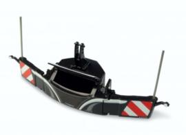 Tractor veiligheids bumper met frontgewicht in Zwart UH5372