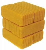 Grote vierkante balen (geel)  Britains Schaal 1:32