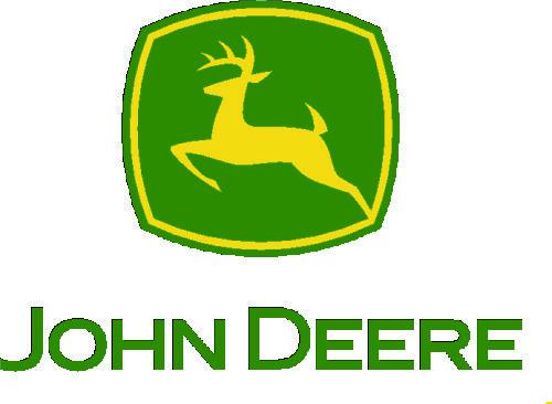 John Deere logo with retracted legs JD002. +/- 35/50 cm