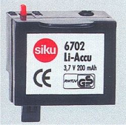 Li-Battery 3.7V 200mAh, Siku Si6702