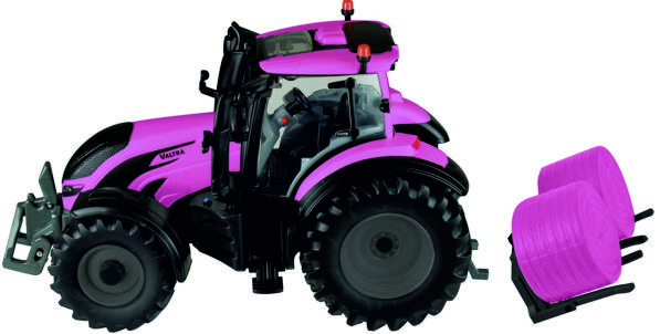 Valtra with bale carrier in Pink BR43247