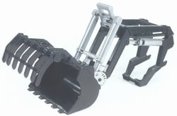 Front loader for tractors from the 02000 series. Bruder BRU Scale 1:16