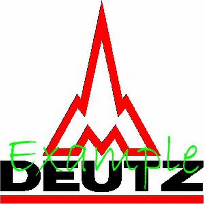 Deutz Logo op vlag +/- 35/50 cm .( met raket)