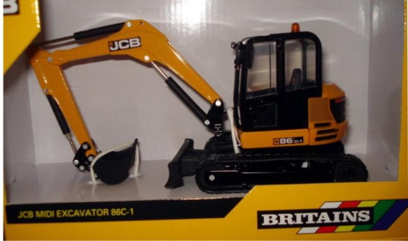 JCB86C1 midi rupskraan Britains BR43013 Schaal 1:32