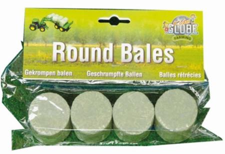 Set van 4 gewikkelde ronde balen. KG610762 - Kids Globe Schaal 1:32
