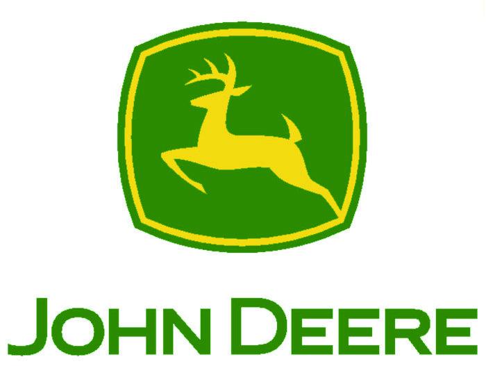 John Deere hert met opgetrokken pootjes JD002 led verlichting.