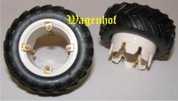Dubbelluchtwielen voor Fiat 100 en 110-90 tractoren - REPD1 Schaal 1:32