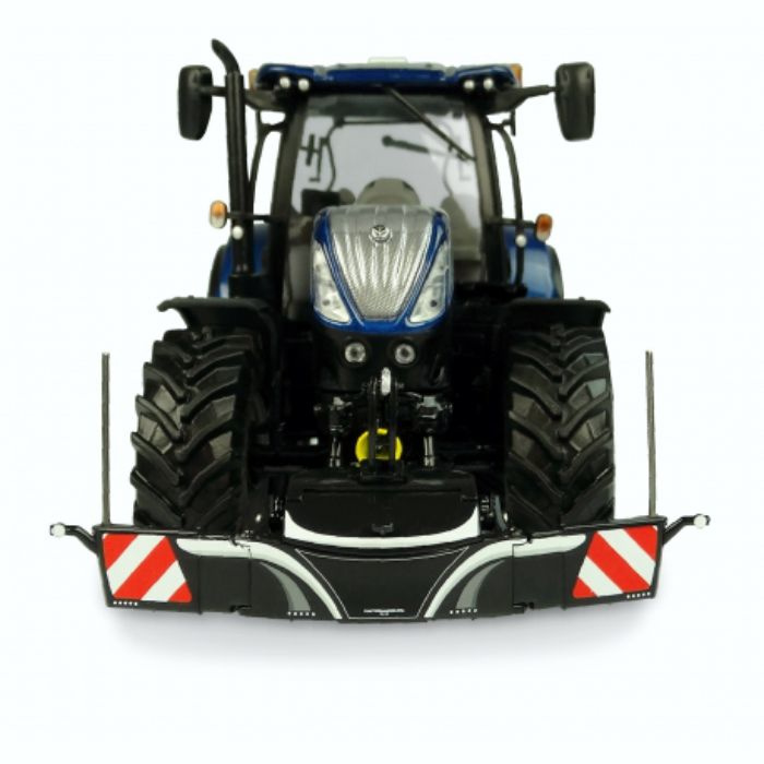 Tractor safety bumper with front weight in Black UH5372