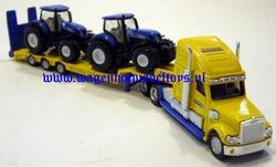 USA dieplader met 2 NH tractoren. SI1805.   Siku  Schaal 1:87