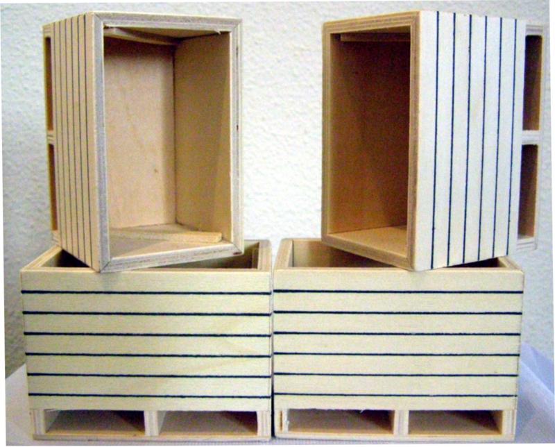 Potato boxes 4 pcs. Kids Globe KG61.0022 Scale 1:16