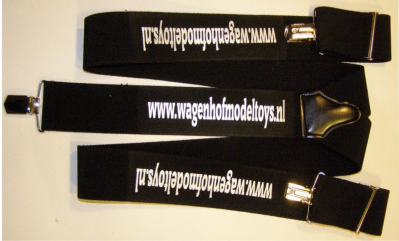 Custom Suspender with your own Text and Logos