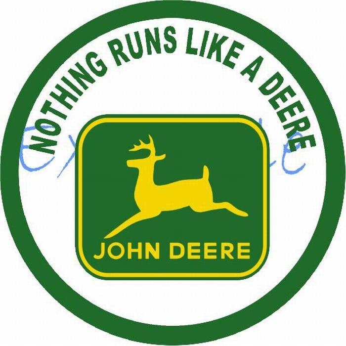 John Deere Nothing runs logo op vlag +/- 35/50 cm