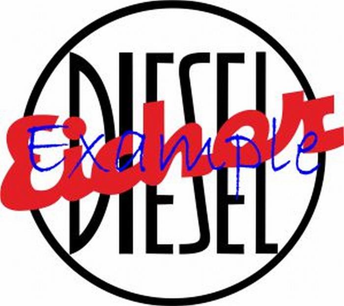 Eicher Diesel Logo op vlag +/-35/50 cm.