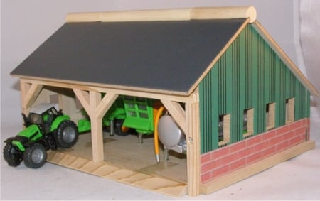 Tools shed 2 compartments - Kids Globe Scale 1:87