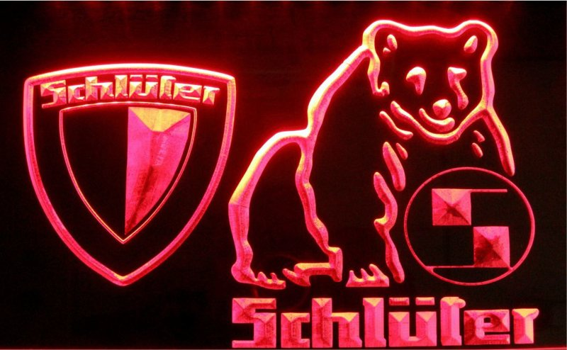 Schlüter LED neon tractor light sign. SCHL 001