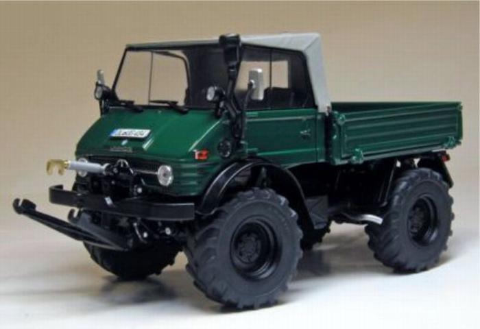 Unimog 406 (U84) Weise-Toys W1048 Donker mosgroen Schaal 1:32