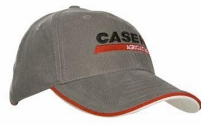 Case IH Agriculture Cap Grijs Sandwich rand rood/wit rode I
