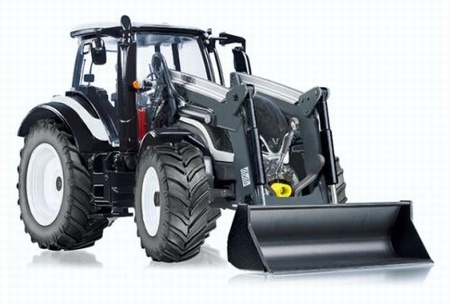 Valtra T174 tractor + front loader with bucket Wi77815 Wiking