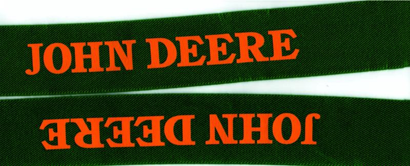 John Deere Suspender Old Font. # Old JD.