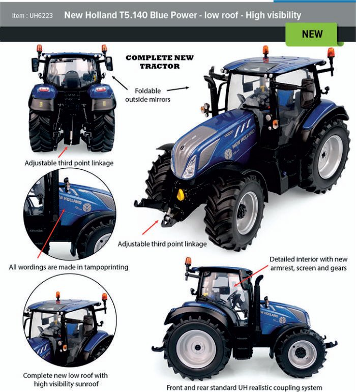 New Holland T5.140 Blue power low roof UH6223.