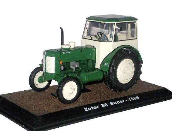 Zetor 50 Super tractor in Groen met cabine 1966 Atlas - 7517006 schaal 1:32.