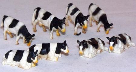 8 dieren (set ) . - Kids Globe- KG 571878  Schaal 1:87