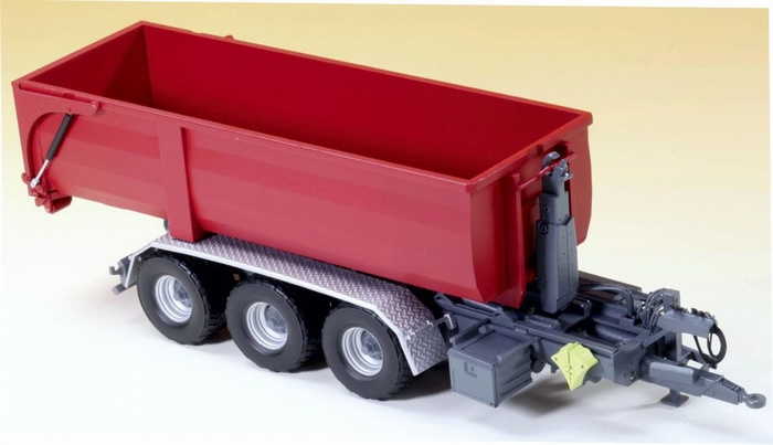 Krampe Tridem THL30L haaklift trailer . Wi 77826 Schaal 1:32