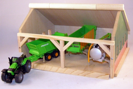 Field shed 2 compartments - Kids Globe KG610223 Scale 1:32