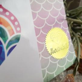 'Kleur in je leven' - Hartverbinder - regenboog kristal - kettinghanger - positiviteit - vreugde - vertrouwen - kleurig - gemoed - hartjes - volg je hart - regenboog