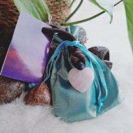 'Volg je hart - Hartverbinder' - rozenkwarts - brievenbus - cadeautje - hart - edelsteen - liefde - harmonie - rust - ontspanning - hartsverlangen - jezelf zijn