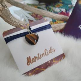 Hartverbinder MINI - meerdere keuzes en opties - Hart edelsteen - boodschap - missie - goudsteen, blauwstroom, rozenkwarts, tijgeroog, obsidiaan, jaspis, kwarts