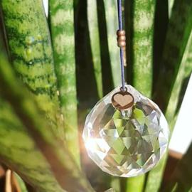 'Veilige plek' - Hartverbinder - regenboog kristal - raamhanger -veiligheid - weerbaarheid - eigenwaarde- veerkracht - jezelf zijn - lekker leven