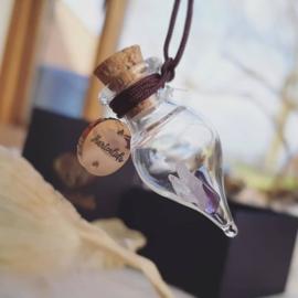 'Wenspotje' - Rosegold ketting hanger sieraad - gouden driehoek- intentie - manifesteren
