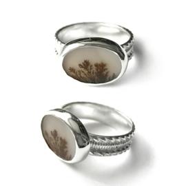 Zilveren Ring met Dendriet Agaat