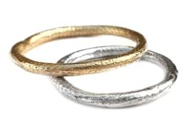 Zilveren structuur ring