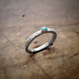 Silver Ring with Synthetic Turquoise