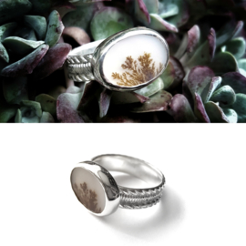 Silver Ring with Dendritic Agate