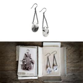 Zilveren Oorbellen met Rutiel Kwarts