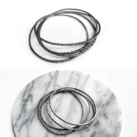 Zilveren Gehamerde Armband
