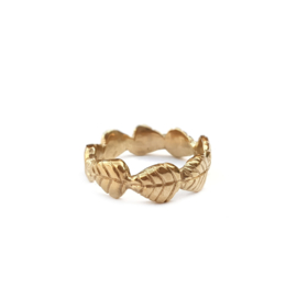 Golden Leaves Ring